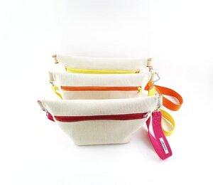 Gürteltasche / Crossbodybag aus weichem Filz mit bunten Details   - Süßstoff
