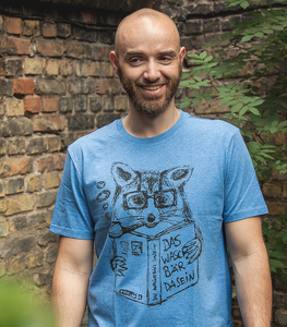 Willi Waschbär - Fair Wear Männer T-Shirt - Heather Blue - päfjes