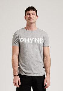 Graues Herren T-Shirt mit Aufdruck, aus Biobaumwolle - PHYNE