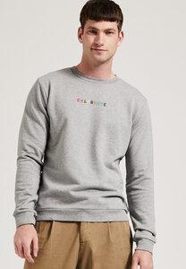 Graues Männer Sweatshirt mit Stickerei, aus Biobaumwolle, GOTS - PHYNE
