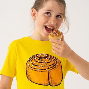 Kinder T-Shirt Zimtschnecke in gelb - Cmig