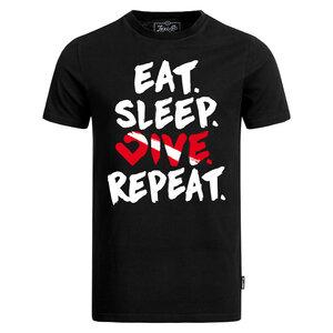 Eat. Sleep. Dive. Repeat. T-Shirt Herren schwarz - Lexi&Bö
