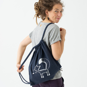 Franzi Fuchs Beutel / Gymbag in midnight blue - Cmig