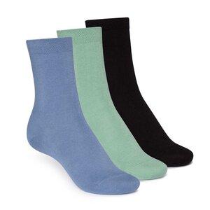 Socken Mittelhoch Schwarz Grün Blau 3er Pack Bio - THOKKTHOKK