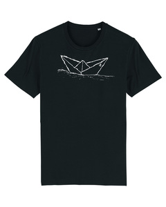 "Kinder T-Shirt ""Paperboat"" Biobaumwolle & Fair Wear dark grey - ilovemixtapes"