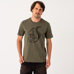 Duchs T-Shirt für Herren in khaki - Cmig