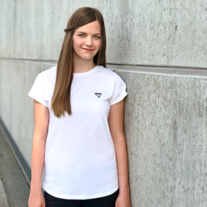 """Basic T-Shirt """"Logo Tee"""" Damen aus recycelter Bio-Baumwolle & PET Flaschen - eisbörg"""