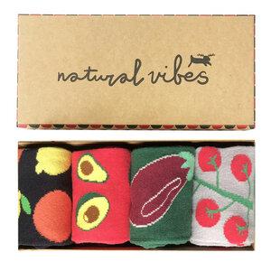 Geschenkboxen Bio GOTS | Bunte Socken | Herren Damen | Healthy Food - Natural Vibes