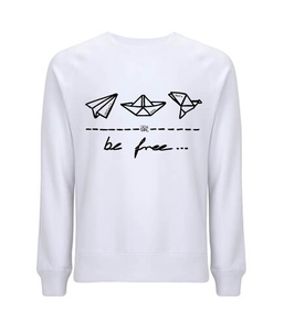 "be free – Unisex Sweatshirt ""dove white"" - DENK.MAL Clothing"