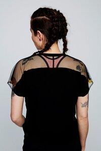 T-Shirt Damen Tencel/Lyocell schwarz transparent BeeBee - BeeBee