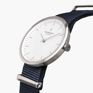 Armbanduhr InfinitySilber - Nylonarmband - Nordgreen Copenhagen