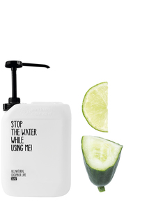 All Natural Cucumber Lime Soap Kanister 2L - Stop The Water While Using Me!