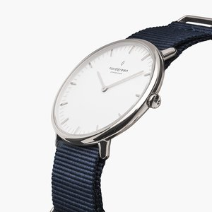 Armbanduhr Native Silber - Nylonarmband - Nordgreen Copenhagen