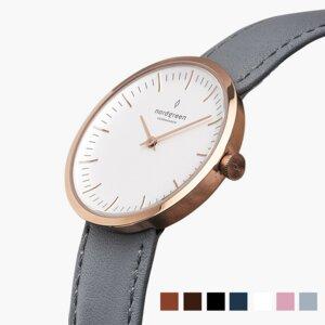 Armbanduhr InfinityRoségold- Italienisches Lederarmband - Nordgreen Copenhagen