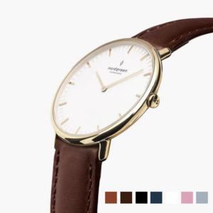 Armbanduhr NativeGold - Italienisches Lederarmband - Nordgreen Copenhagen