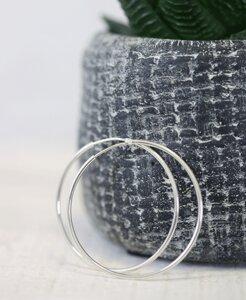 pikfine 925er Silber Creolen // 44 mm - pikfine