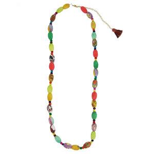 Kantha Kaleidoscope Necklace - Worldfinds