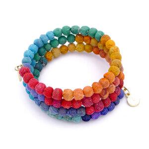 Kantha Rainbow Spiral Armband - Worldfinds