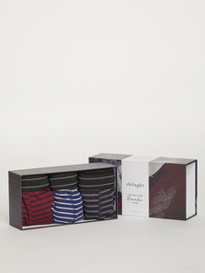 Boxershorts 3er Set - Striped Boxers Gift Box - Thought