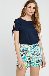 Kurze Hose - Rhea Tropical Shorts - Multi Coloured - People Tree