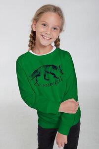 "Bio-Kindersweatshirt ""Be Careful"" - Peaces.bio - Neutral® - handbedruckt"