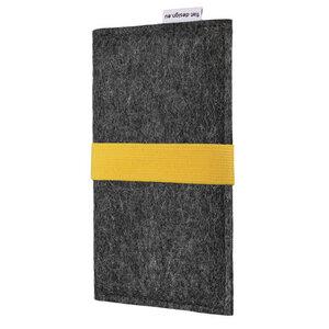Handyhülle AVEIRO für Samsung Galaxy A-Serie - VEGANer Filz - anthrazit - flat.design
