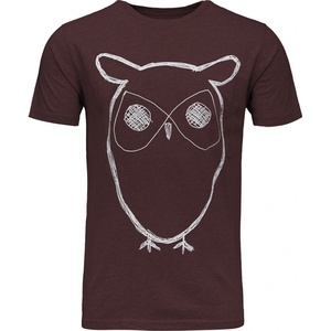 T-Shirt - Single Jersey With Owl Print - KnowledgeCotton Apparel