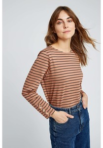 Langarmshirt - Felicity Stripe Top - People Tree