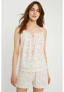 Pyjama Top - Heart Print Camisole - People Tree