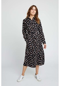 Blumen Kleid lang - Piper Floral Shirt Dress - People Tree