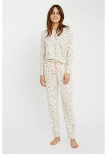 Pyjama Hose - Heart Print Pyjama Trousers - People Tree