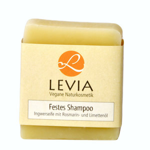 Levia Festes Shampoo Ingwer m. Rosmarin- u. Limettenöl 100g - LEVIA Vegane Naturkosmetik