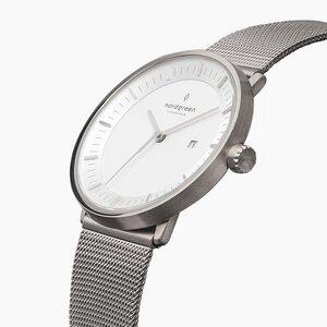 Armbanduhr Philosopher Silber - Mesharmband Silber - Nordgreen Copenhagen