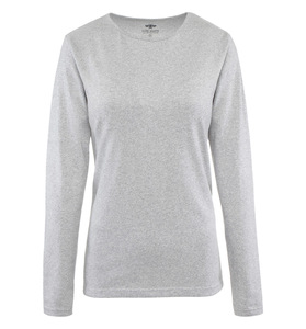 Pure Waste - Damen Long Sleeve T-Shirt, Grey Melange - Pure Waste