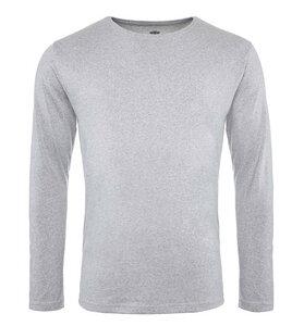 Pure Waste - Herren Long Sleeve T-Shirt, Grey Melange - Pure Waste