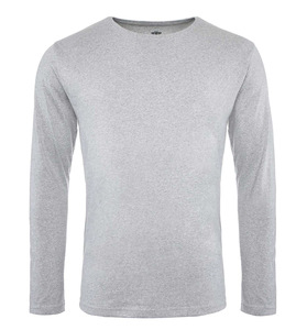 Pure Waste - Herren Long Sleeve T-Shirt, Grey Melange - Pure Waste