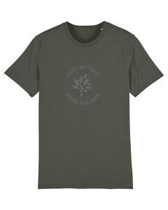 "Herren T-Shirt aus Bio-Baumwolle ""Save the Trees"" - Anthracite - University of Soul"