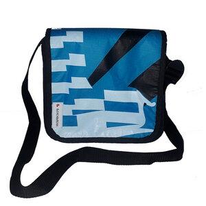 Messenger bag Size XS hergestellt aus gebrauchten Kites UNIKAT - Beachbreak
