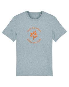 "Herren T-Shirt aus Bio-Baumwolle ""Save the Trees"" - Orange - University of Soul"