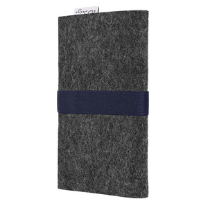 Handyhülle AVEIRO für Galaxy Note - VEGANer Filz - anthrazit - flat.design