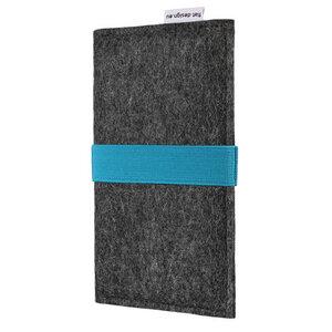 Handyhülle AVEIRO für Samsung Galaxy Note - VEGANer Filz - anthrazit - flat design by Mareike Kriesten