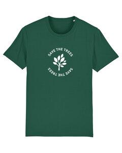"Herren T-Shirt aus Bio-Baumwolle ""Save the Trees"" - White - University of Soul"