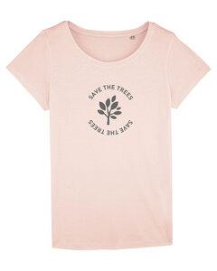 "Damen T-Shirt aus Bio-Baumwolle ""Save the Trees"" - Anthracite - University of Soul"