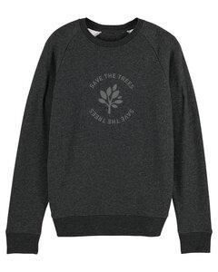 "Herren Sweatshirt aus Bio-Baumwolle ""Save the Trees"" - Anthracite - University of Soul"