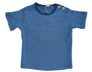 Leela Cotton Kurzarmshirt petrol blau gestreift - Leela Cotton