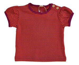 Leela Cotton Kurzarmshirt robraun lila - Leela Cotton