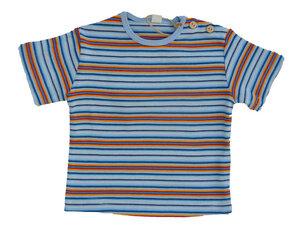Leela Cotton Kurzarmshirt mehrfarbig diverse Blautöne gestreift - Leela Cotton
