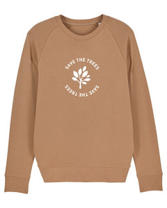 "Herren Sweatshirt aus Bio-Baumwolle ""Save the Trees"" - White - University of Soul"