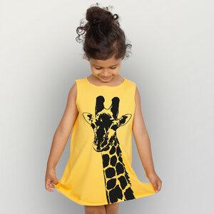 """""""Stefanie la Girafe"""" Kinder Biokleidchen  - HANDGEDRUCKT"""