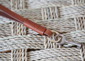 """langer Leder Schlüsselanhänger """"Lieke""""// Cognac oder Schwarz - pikfine"""